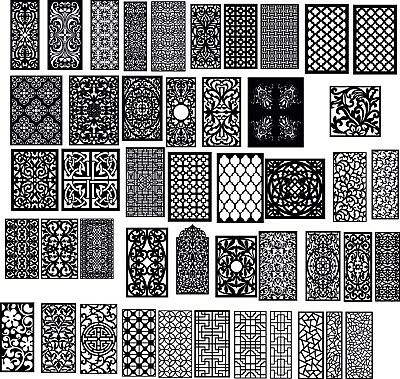 DXF of Laser Cut -CNC Vector DXF-CDR - AI  Art file 130 ITEMS