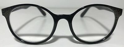 b63855467f BETSEY JOHNSON READING Glasses Solid Black With Gold Frame Readers + ...