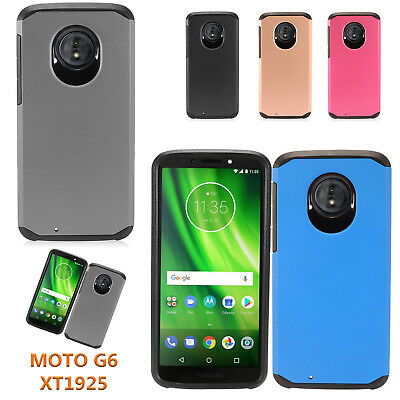 For only Motorola Moto G6 XT1925 Heavy Duty Defender Shock Proof Hybrid Case