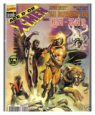 Comics Marvel Semic Age D'or X Men 1 Royaume Ka-Zar Be