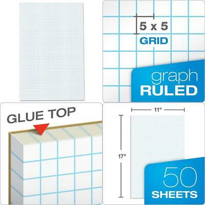 AMPAD QUADRILLE DOUBLE Sided Pad 11 X 17 White 4x4 Quad Rule 50