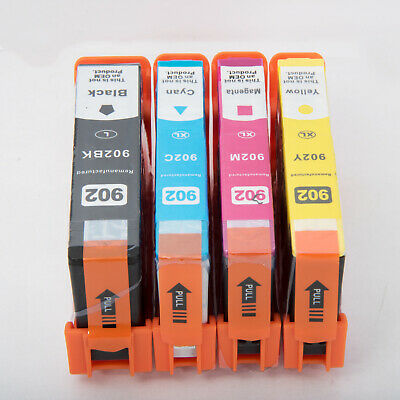 4 Pack 902XL 902 L Ink Cartridges for HP Officejet Pro 6960 6968 6970 6975 6978