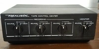 REALISTIC 42-2115 Stereo Tape Control Center Vintage Wood Grain Working