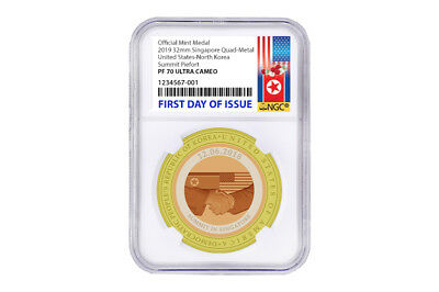 Singapore 2018 USA Summit Medal Donald Trump NGC PF-70 PRESALE