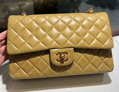 880af8047cca CHANEL MEDIUM CLASSIC Double Flap Quilted Lambskin Gold Hardware Beige  Taupe - $2,700.00 | PicClick