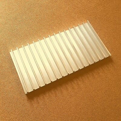 3 inch Heat Sink Aluminum (3.0 x 6.08 x 0.5) inches. Low Thermal Resistance.