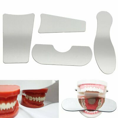4pcs Dental Orthodontic Intra Oral Mirrors Stainless Steel Photography Reflecter