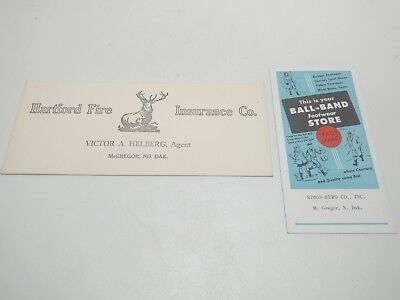 Hartford Fire Insurance, Ball Brand Footwear Ink Blotters, McGregor North Dakota