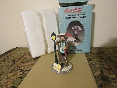 """Limited Ed Coca Cola Emmett Kelly """"Time For A Coke"""" Musical Figurine 1997 & Box"""