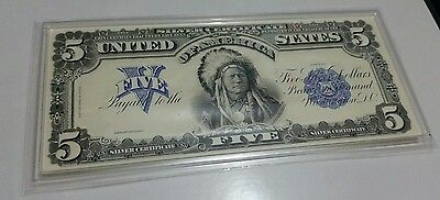 1899 Silver Certificate $5 Indian Chief Proof from the Coin & Currency book.