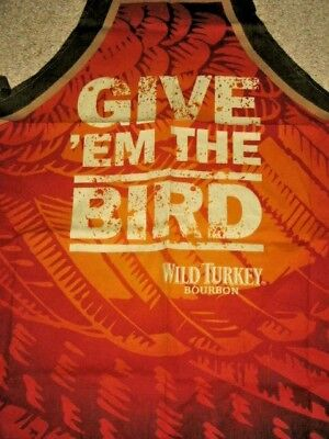 1 Give Em The Bird Wild Turkey Bourbon Sturdy Cotton BBQ Apron + Stubby Holder