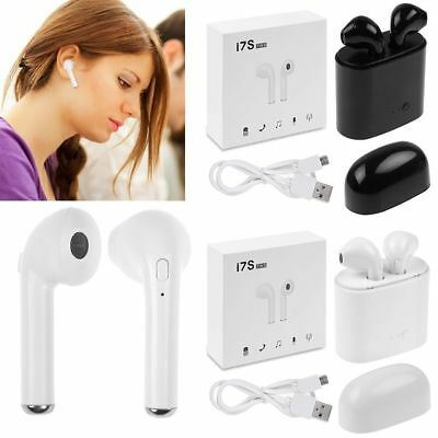 iPhone wireless headphone w/Charging Box For Apple iPhone For EarPods