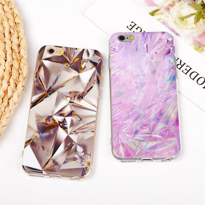 Soft TPU Silicone Marble Phone Cases Back Cover for iPhone 8 7 6 6S Plus X 5S SE