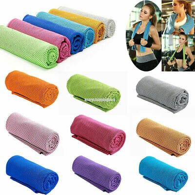 Instant Sport Cooling Towel ICE Cold Golf Cycling Jogging Gym Outdoor Absorption