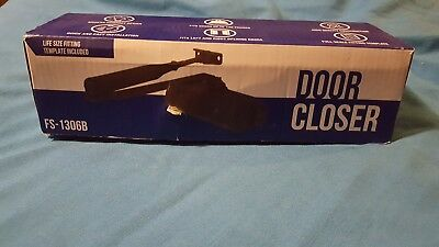 New Door Closer Black FS 1306B Automatic Adjustable Heavy Duty Mechanism Grade
