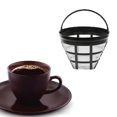 1PC Permanent Reusable Cone Shape Coffee Filter Mesh Basket Stainless Steel