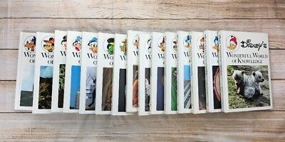 Vintage Disney's Wonderful World of Knowledge Collection 1971; 15 books