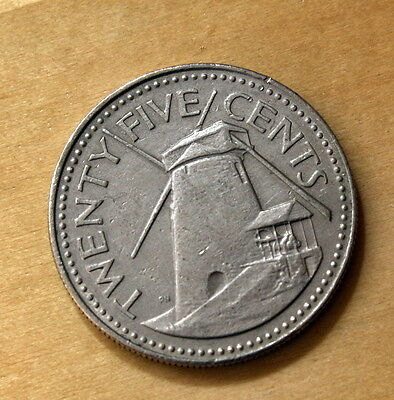 1978 Barbados 25 Cents Windmill