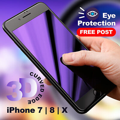 3D Full Cover iPhone X 8 7 Plus Screen Protector Tempered Glass for Apple