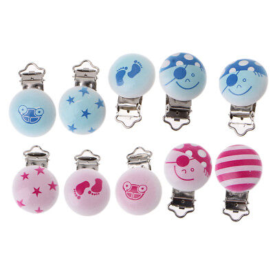 5pcs/lot Baby Pacifier Clip Holder Soother Pacifier Infant Dummy Clips For Baby