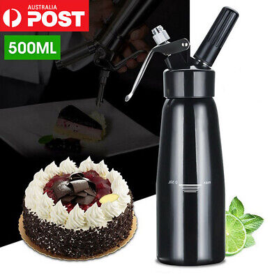 500ml CREAM WHIPPER Whip Coffee Dessert Butter Dispenser CHARGERS FOAM WHIPPED W