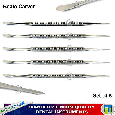 BEALE MODELLING WAX Carvers Mixing Spatula Scalers Dental Lab Instruments 5PCS