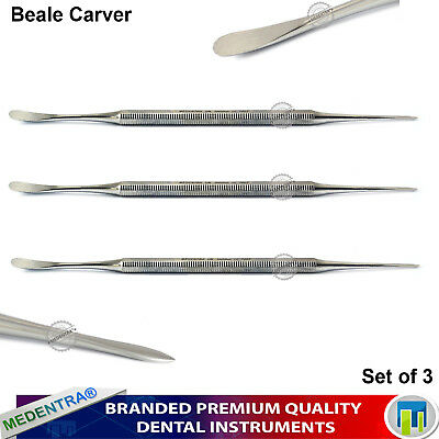 Dental Beal Wax Mixing Carvers Waxing Laboratory Carving Metal Instruments 3Pcs