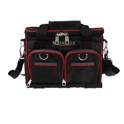 12 Inch Double-Layer Multi-functional Electrician Tool Bag with Tool Box