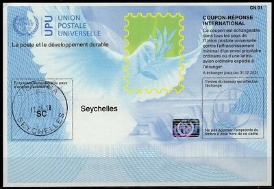 SEYCHELLES  Is40 20170802 AA Intern. Reply Coupon Reponse IRC IAS Antwortschein