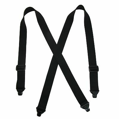 New CTM Men's Elastic Plastic Clip-End TSA Compliant Airport Suspenders