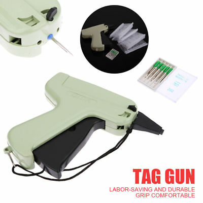 Clothes Garment Price Label Tagging Tag Gun Machine + 1000 Barbs+5 Steel Needles
