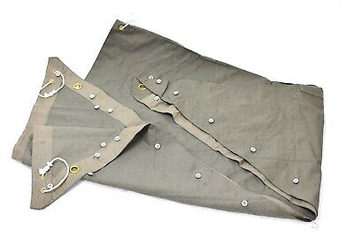 Genuine Swedish army Shelter Triangle tarpaulin canvas Shelter-half olive  NEW