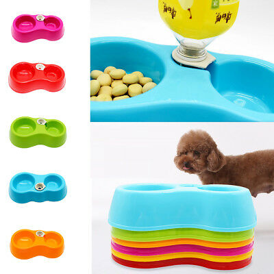 Pet Water Dispenser Food Dish Bowl Dog Puppy Cat Kitten Automatic Feeder Bottle
