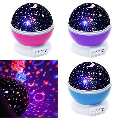 Night Lighting Lamp Rotating Cosmos Star Sky Moon Projector for Children Bedroom