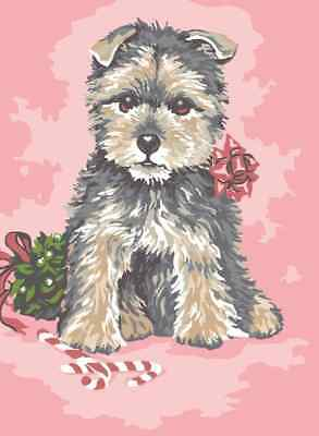 Westie With A Rose Tapestry To Stitch