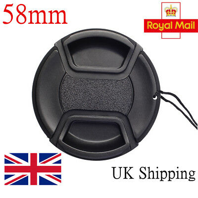58mm Front Lens Cap Cover Snap-on For Canon,Sony,Nikon,Olympus,Fuji,Pentas,UK