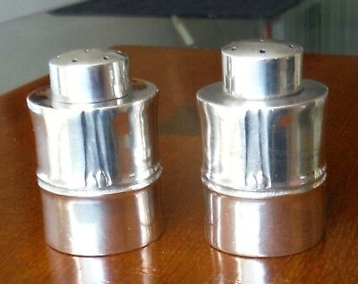 PAIR EARLY 1900s 950 SILVER PEPPERETTES- PEPPER SHAKERS *
