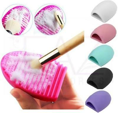 2X MAKEUP BRUSH CLEANER Egg Glove Scrubber Cosmetic Cleaning Silicone Foundation