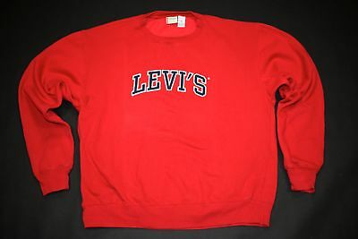 Levis Pullover Longsleeve Sweatshirt Sweater Vintage Levi´s Spellout Big Logo XL