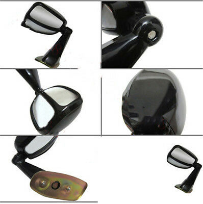 1x For Land Cruiser LC80 91-97 Auto Black Passenger Side View Assistant Mirror