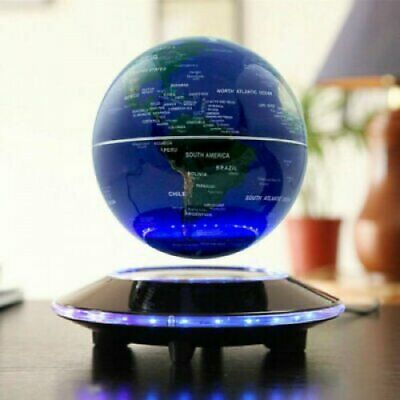Floating World Globe Map Magnetic Levitation With LED Light for Home Room Decor