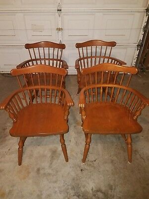 4  Ethan Allen Comback Chairs Excellent Condition