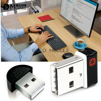 Wireless Keyboard Mouse Unifying Receiver 1 to 6 Devices USB Dongle For Logitech