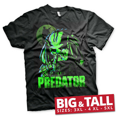 Officially Licensed Predator Big and Tall 3XL,4XL,5XL Men's T-Shirt (Black)