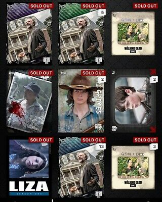 Topps The Walking Dead Card Trader Digital- Full Account- Bound For Glory Etc.