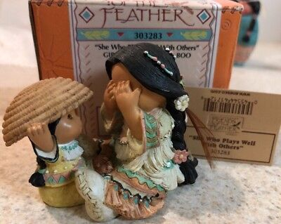 Enesco Friends of the Feather She Who Plays Well With Other Girls Peel-a-boo MIB