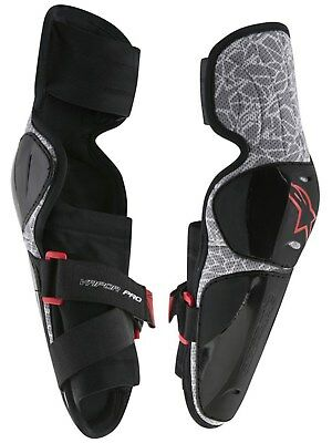 Alpinestars Black-Grey 2018 Vapor Pair of Kids MX Elbow Guard