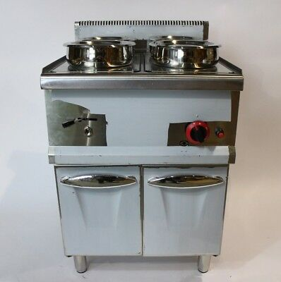 EX DISPLAY LPG GAS Wet BAIN MARIE with TAP  4x7L Round Pots & STAND