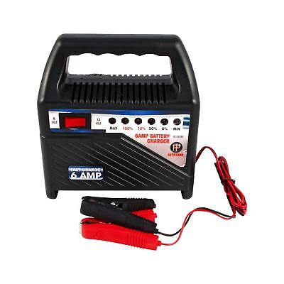 6 Amp Heavy Duty 6/12v Volt Car Van Bike Battery Charger Vehicle Compact Booster