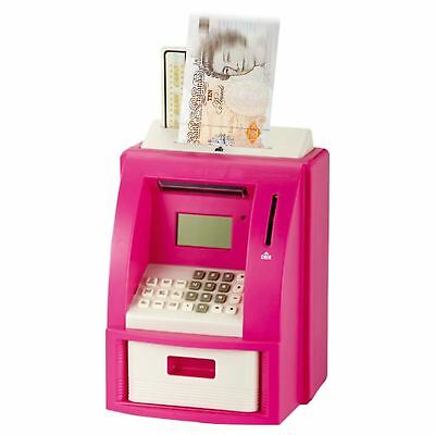 Atm Bank Cash Machine Coin Note Counter Saving Money Box Gift Piggy Bank Safe